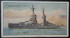 ANDREA DORIA  Regia Marina  Dreadnought Battleship  Original Vintage Colour Card