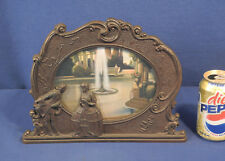 Original Vtg Antique 1931 Scene in Action Motion Lamp Water Fountain Man + Lady
