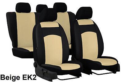 VOLKSWAGEN POLO Mk5 2009-2017 ECO LEATHER /& ALICANTE TAILORED SEAT COVERS