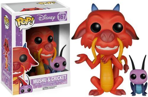 Mushu /& Cricket 167 Funko Mulan POP Disney