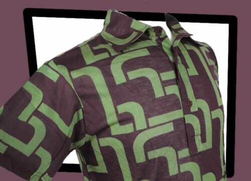 Chenaski Geometrisch Polohemd Limitierte Auflage 1243 Olive