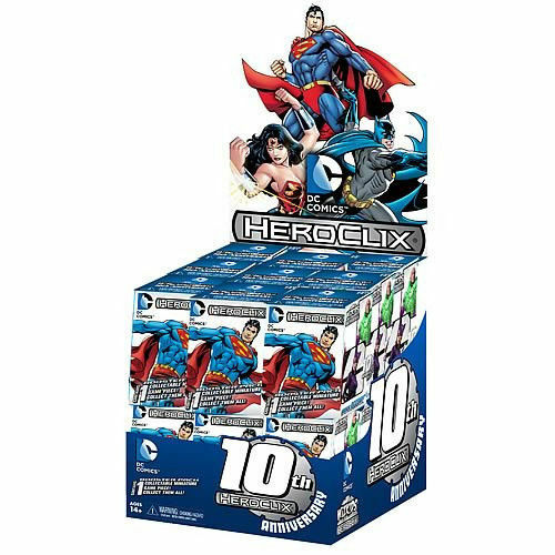 Heroclix DC 10th Anniversary Countertop Display (24ct) FACTORY SEALED NEW