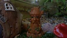 Tree trunk fairy house garden