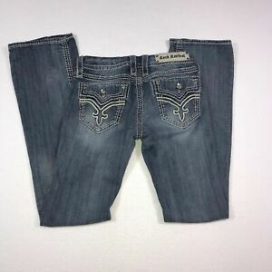 Rock-Revival-DONNA-Boot-Jeans-Distressed-Low-Rise-Stretch-Womens-Size-27-29x33
