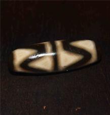 "old tibetan dzi bead water wave antique ""tiger-tooth"" necklace stripes zig zag"
