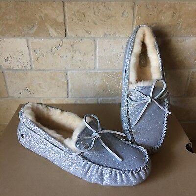 UGG Dakota Sparkle Silver Slippers