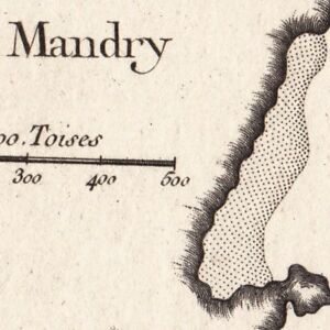 Carte-Geographique-XVIIIe-Thorikos-Mandry-Grece-Thoricus-Torik-Torico