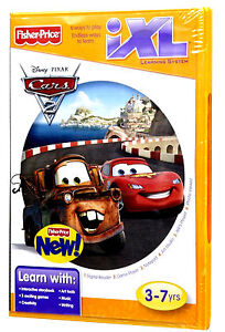 Fisher-Price-Disney-Pixar-Cars-2-iXL-Learning-Center-Software-Game-3-7yrs-NEW