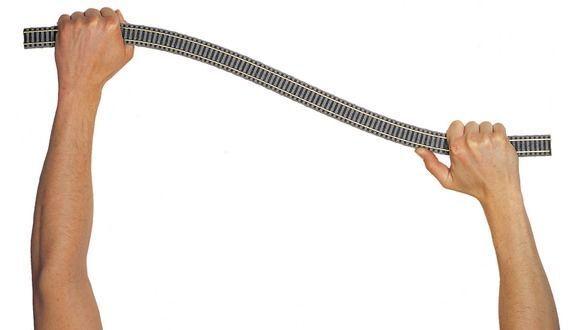 1st. =   Fleischmann 6106 binario flessibile, lunghezza 800 mm 10 Pz Merce Nuova