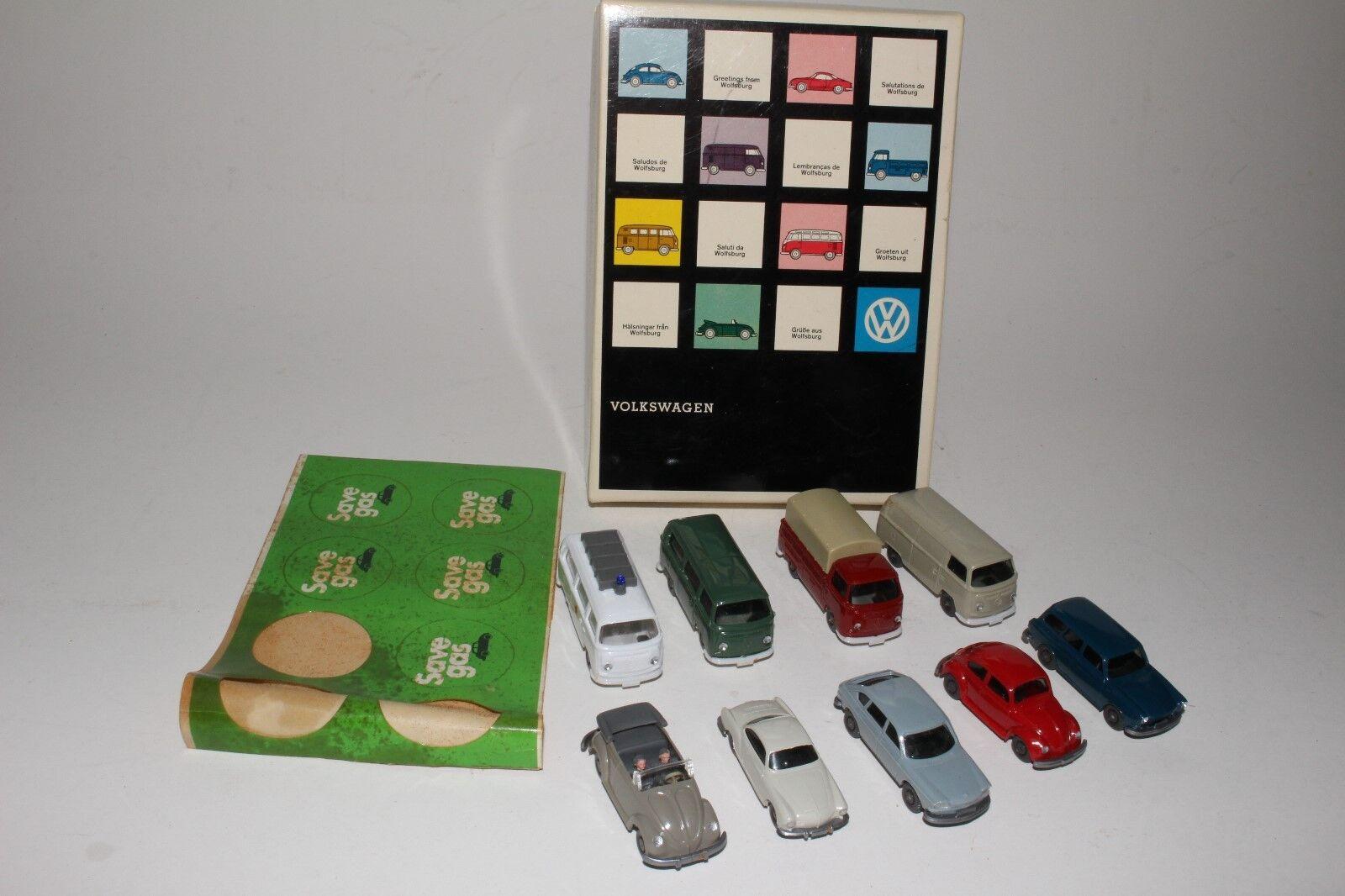 1960 s Wiking leksaker, Volkwagen Set med originalruta
