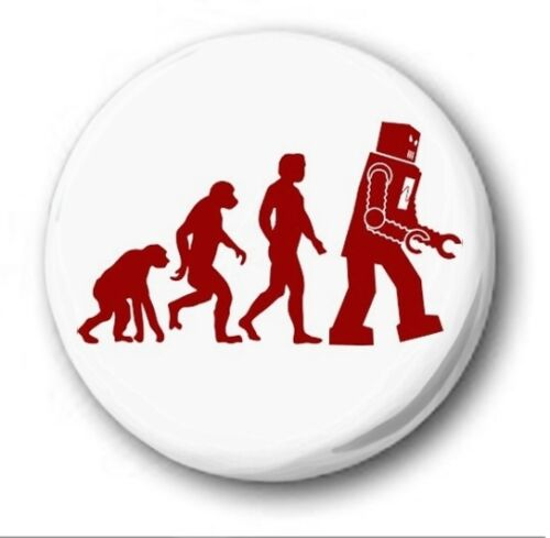 ROBOT EVOLUTION Novelty Cute Big Bang Theory 25mm Button Badge 1 inch