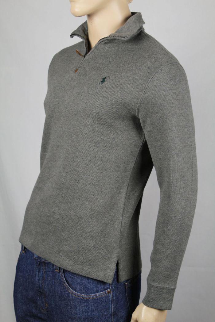 Polo Ralph Lauren XX-Large XXL Grau 1/2 Half Zip Sweater Grün Pony NWT