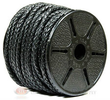 5mm Diameter Black Leather Braided Bolo Cord Beading Bracelets Woven Tie Cord
