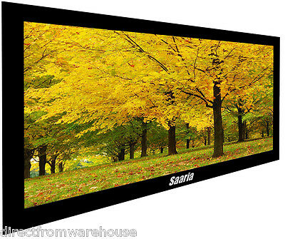 "SAARIA 106"" PROJECTOR SCREEN MATERIAL LCD DLP HD TV"