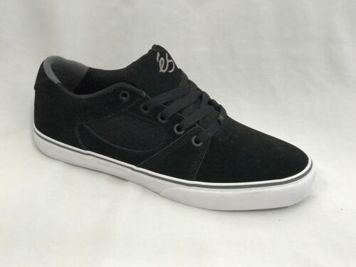Es Square three Skateboard Shoes Black-white-grey Suede Vulc 3 SKATE SALE