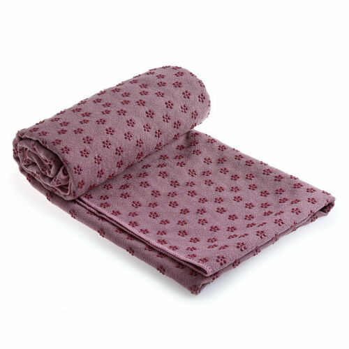 """25x72/"""" Non-Slip Yoga Towel Wear-resistant Fitness Pilates Blanket Cover Workout"""