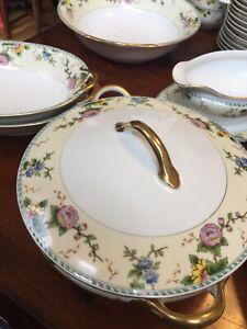 Noritake-Amerita-China-Set-12-Large-125-Pc-Vintage-discontinued-circa-1918