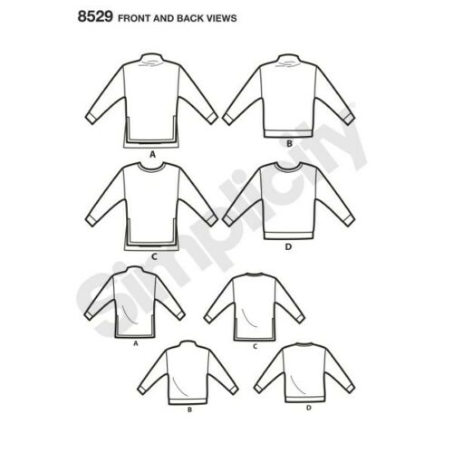 Simplicity Sewing Pattern 8529 Women/'s Toaster Oversized Sweater Jumper