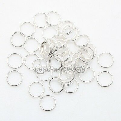 Hot! Assorted Sizes Silver Plated Cut Open Double Split Jump Rings 4,5,6,8,10mm