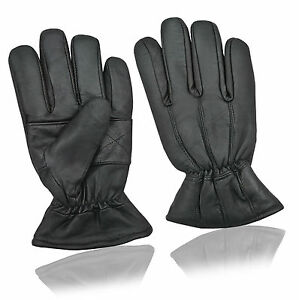 ae2fb7fcad42b Image is loading Mens-Women-Thermal-Real-Leather-Gloves-Driving-Fleece-