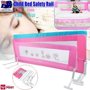 Safety-Child-Toddler-Bed-Rail-Baby-Bedrail-Fold-Cot-Guard-Protection-Pink-Blue