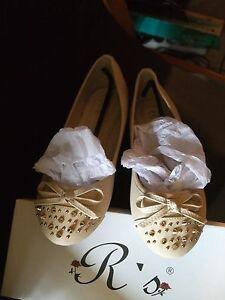 Damenschuhe, Ballerina, beige, Größe 38