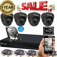 Sale 4ch 2mp 1080p Hd Dvr Cctv Outdoor Home Security Camera System Kit 1tb Hdd