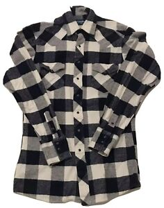 VTG-Wrangler-Button-Up-Western-Blue-Pearl-Snap-Mens-Plaid-Flannel-Shirt-Medium