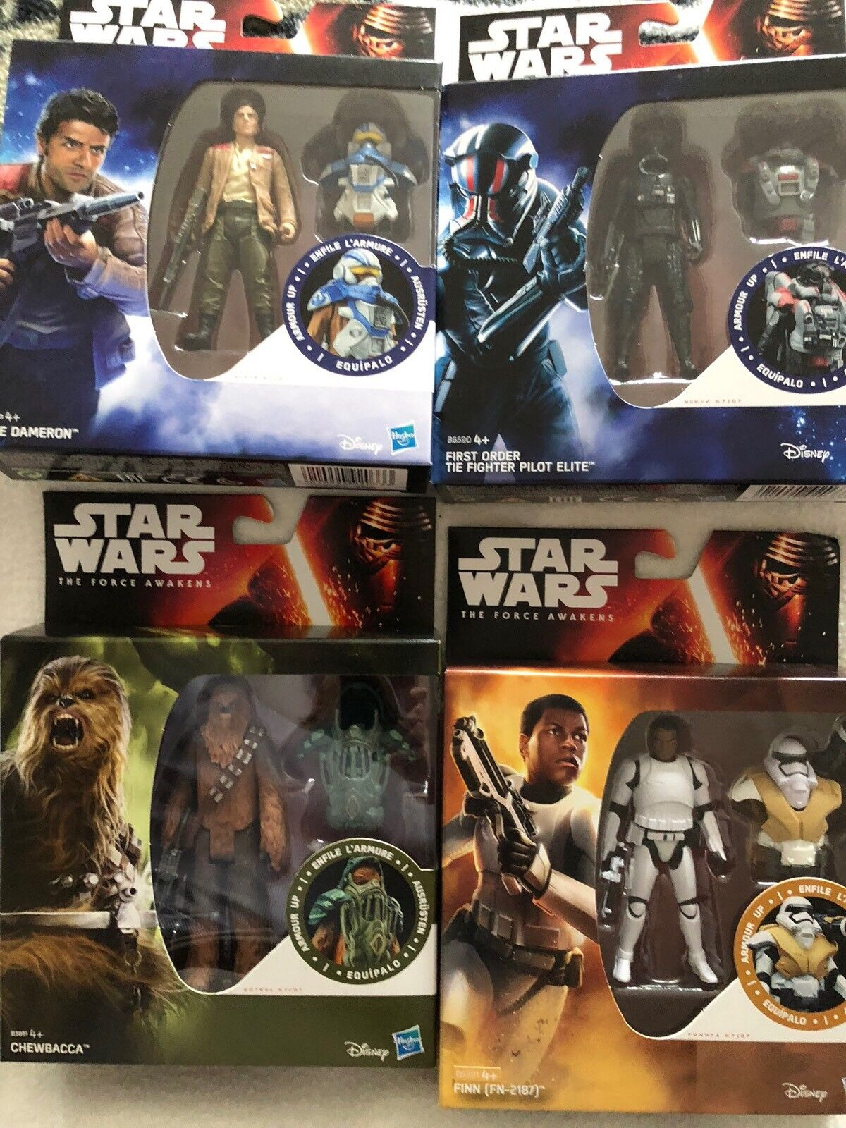 Star Wars The Force Awakens Five Armour Up 3.75 Inch Figures