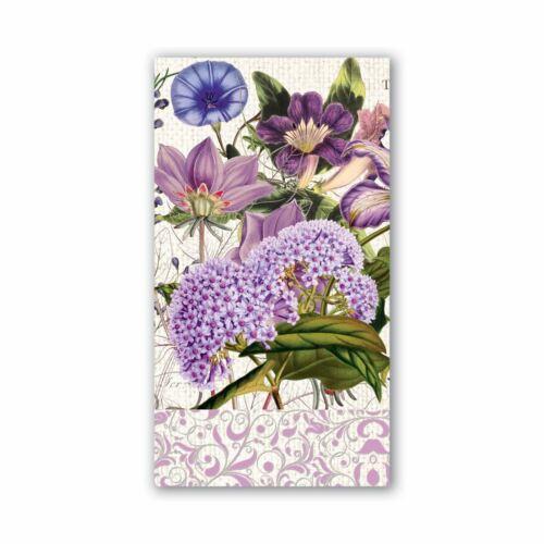 Michel Design Works 15 Triple-Ply Paper Hostess Napkins Rhapsody Purple Floral