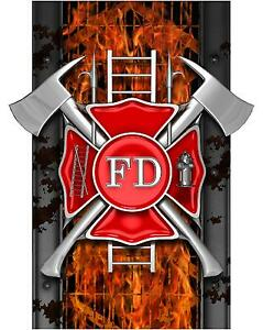 2018 Chevy Silverado >> Truck Bed Decal - Fire Fighter FD Fireman - Dodge Ford ...