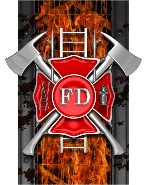 Truck Bed Decal - Fire Fighter FD Fireman - Dodge Ford Chevy Striping Graphics