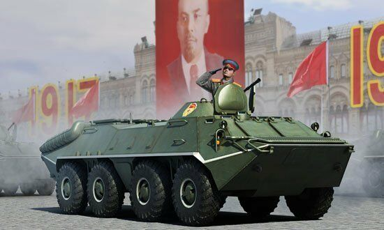 01590 Trumpeter 1 35 Model BTR-70 APC Early Version Transport Vehicles Tank Kit