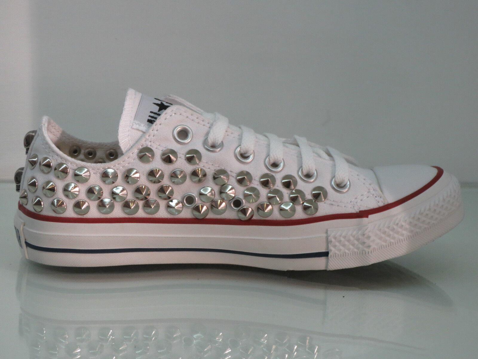 Converse all star OX OX OX  borchie teschi   bianco optical white artigianali 067be4