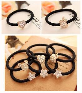 New-10Pcs-Crystal-Elastic-Hair-Ties-Band-Ropes-Ring-Ponytail-Holder-Accessories