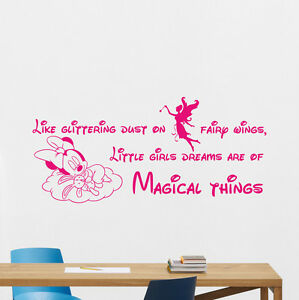 Image is loading Minnie-Mouse-Wall-Decal-Fairy-Girl-Vinyl-Sticker-  sc 1 st  eBay & Minnie Mouse Wall Decal Fairy Girl Vinyl Sticker Art Decor Quote ...