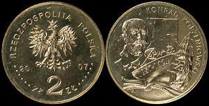 Pologne. 2 Zloty. 2007 (Pièce KM#Y.591 Neuf) Konrad Korzeniowski