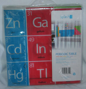 Periodic Table Shower Curtain Multicolors with Metal Grommets