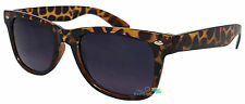 Ladies Sunglasses Brown Leopard Print Frame Dark Tint Lens Fashion Nerd UV400