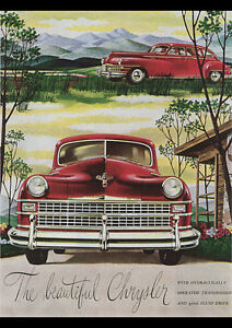 CHRYSLER-1946-No2-VINTAGE-AD-REPRO-NEW-A1-CANVAS-PRINT-POSTER-FRAMED-33-1-034-x23-4-034