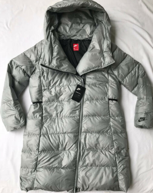Nike 500 Fill Down Puffer Parka 854759-065 Coccoon Long Hooded Jacket  Women s L 84e437ad2be0