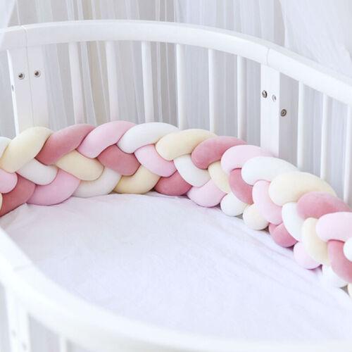 Baby Stoßfänger Kinder Bettwäsche Webbett Kantenschutz Bettgarnitur 220 cm