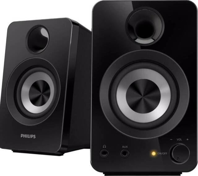Philips SPA1260/12 Portable Laptop/Desktop Speaker  (Black, 2.0 Channel)