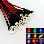 PRE WIRED LED PREWIRED LEDS 3MM / 5MM ULTRA BRIGHT 9V/12V CHOOSE VARIOUS COLOURS