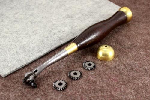 #7,8,10,12 Vergez Blanchard Leather Pricking Stitching Marker 4 Wheel Set