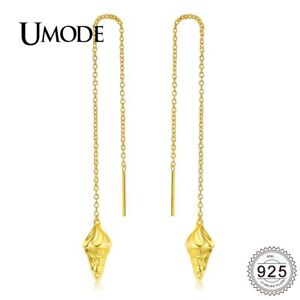 91f4ce04ad Details about UMODE New Long Chain Ice Cream Shape 925 Sterling Silver  Tassel Drop Earrings