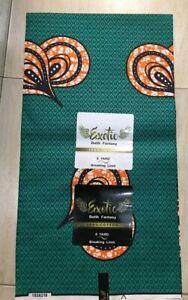 New Exotic African Prints Ankara Fabric Sold per 6 Yards
