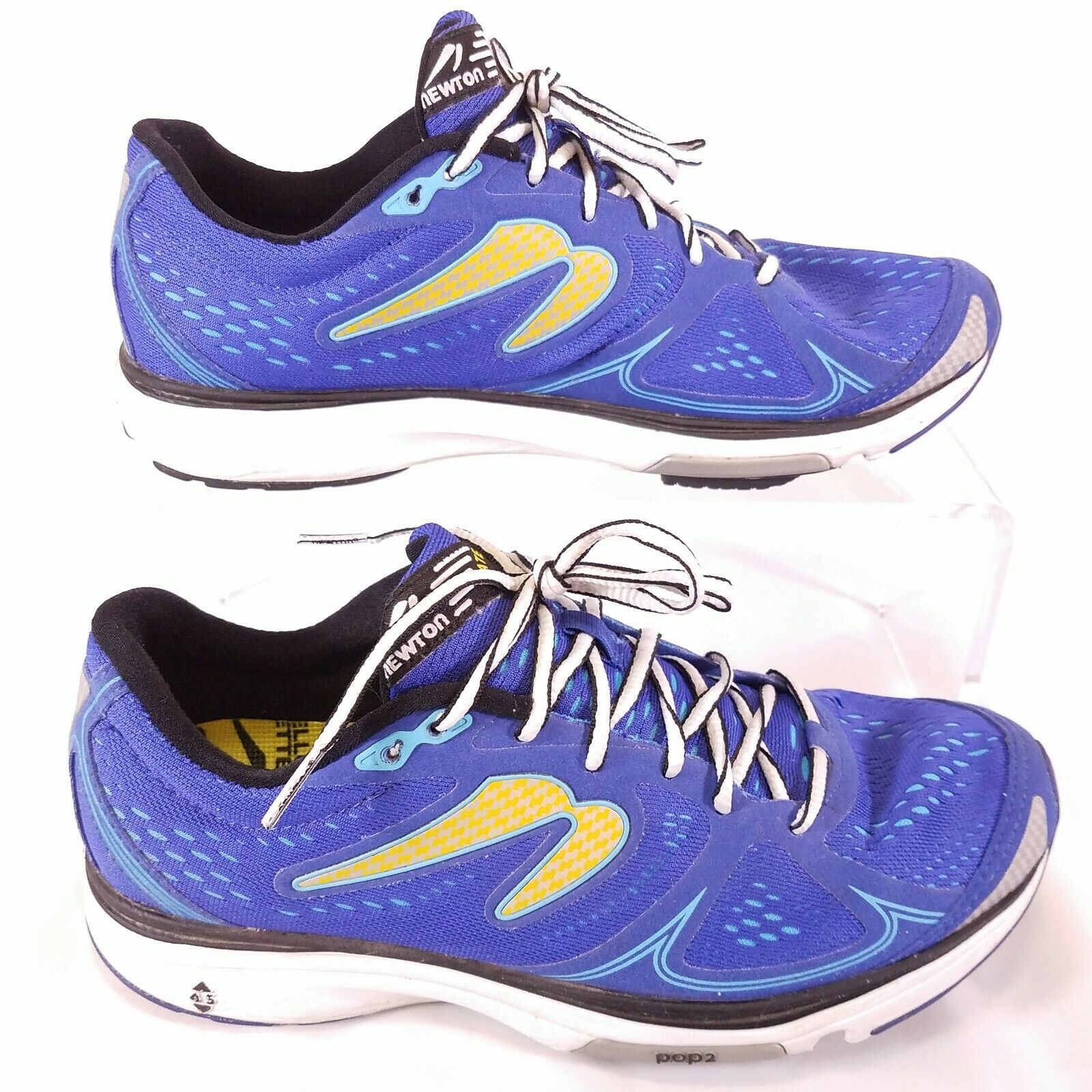 Newton FATE M011514B Mens 8.5 bluee Yellow REFLECTIVE Running shoes light q6