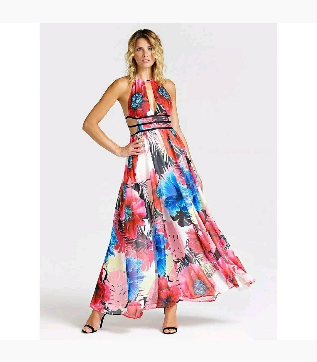 size 40 eb6ea 23e2b VESTITO LUNGO GUESS ROSSO - - - VIVIENNE DRESS W92K1H WBOX0 ...