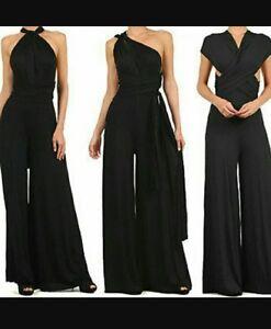 67b421489ec Image is loading Womens-Wedding-CONVERTIBLE-Jumpsuit -Romper-Summer-Palazzo-Formal-